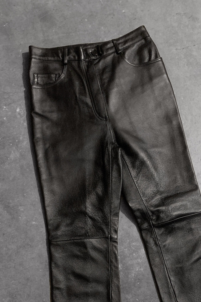 Motorcycle Mama High Waisted Leather Pants - One More Chance Vintage