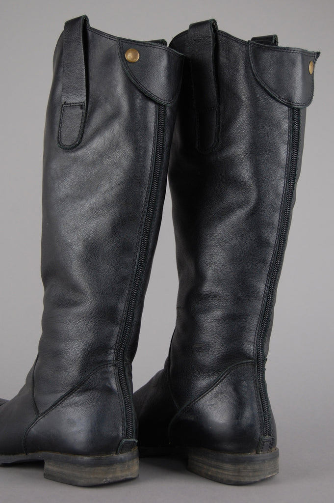 One More Chance Vintage - Vintage Glory Ride Knee High Leather Boots