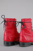 One More Chance Vintage - Vintage Laredo Red Leather Justin Lace Up Boots