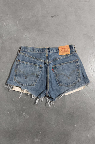 Vintage Levi Strauss Denim Cut Off Shorts in Blue - Size 29 - One More Chance Vintage