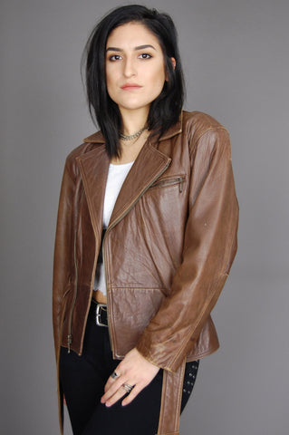 Rock Me Baby Soft Distressed Leather Moto Jacket