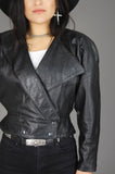 Vintage Michael Hoban North Beach Leather Buttery Soft Asymmetric Jacket - One More Chance Vintage