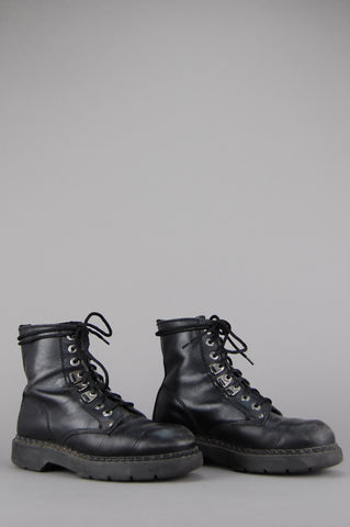 Nine West Lace Up Leather Ankle Combat Boots