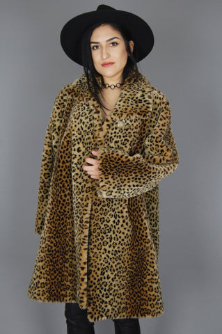 Vintage Norm Thompson Leopard Chunky Faux Fur True Romance Jacket Coat - One More Chance Vintage