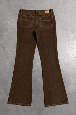 Vintage Super Low Rise Corduroy Pants in Dark Brown - Size 28 - One More Chance Vintage