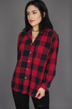 Field & Stream Plaid Flannel Shirt Jacket - Red