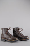 One More Chance Vintage - Vintage Chunky Lace Up Leather Work Boots