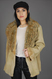 One More Chance Vintage - Vintage St Johns Bay Faux Fur Shearling Leather Jacket