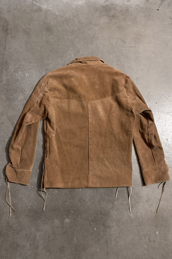 Tusk Suede Leather Mexican Pullover Jacket - One More Chance Vintage