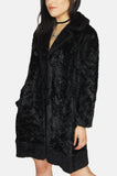 Moon Dance Textured Faux Fur Jacket