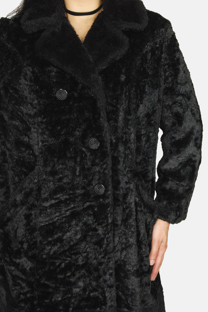 One More Chance Vintage - Vintage Moon Dance Textured Faux Fur Jacket