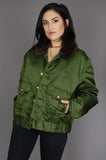 One More Chance Vintage - Vintage Tuffy Jac Horace Fur Collar Bomber Jacket