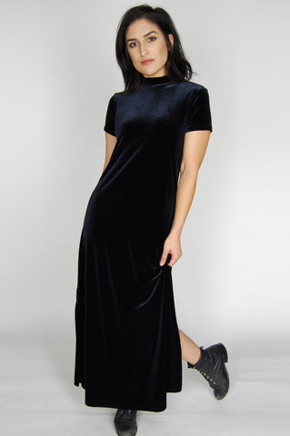 One More Chance Vintage - Vintage Crazy On You Velvet Maxi Dress