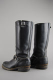 Vintage Wesco Black Heavy Duty Engineer Work Harness Leather Boots - One More Chance Vintage