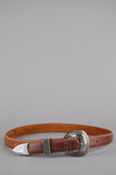 One More Chance Vintage - Vintage Hit The Road Skinny Western Leather Belt