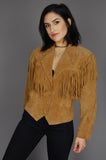 One More Chance Vintage - Vintage Be Free Wilson's Fringe Suede Leather Jacket
