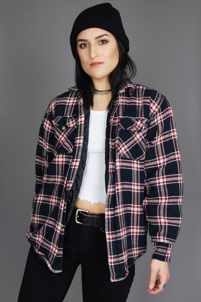 One More Chance Vintage - Vintage All Or Nothin' Wrangler Plaid Flannel Jacket