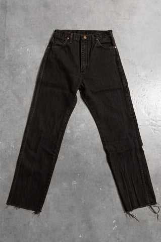 Vintage Black Wrangler Cut Off Western Bareback Denim Jeans - Size 27 - One More Chance Vintage