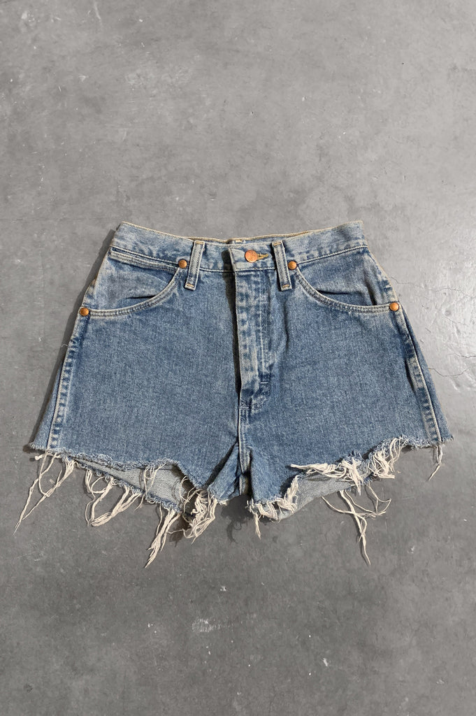 Vintage Wrangler Denim Cut Off Shorts in Light Blue - Size 24 - One More Chance Vintage