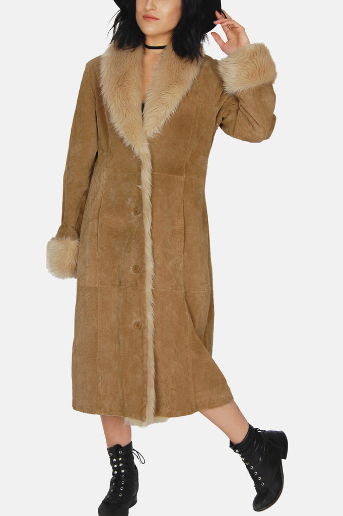 Wilson's Shearling Suede Leather Coat