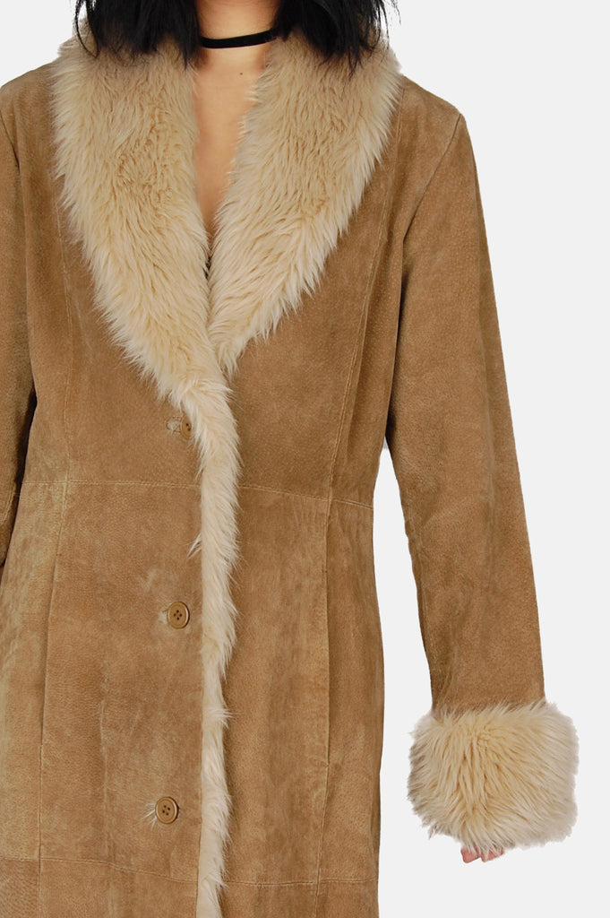Wilson's Shearling Suede Leather Coat - One More Chance - 4