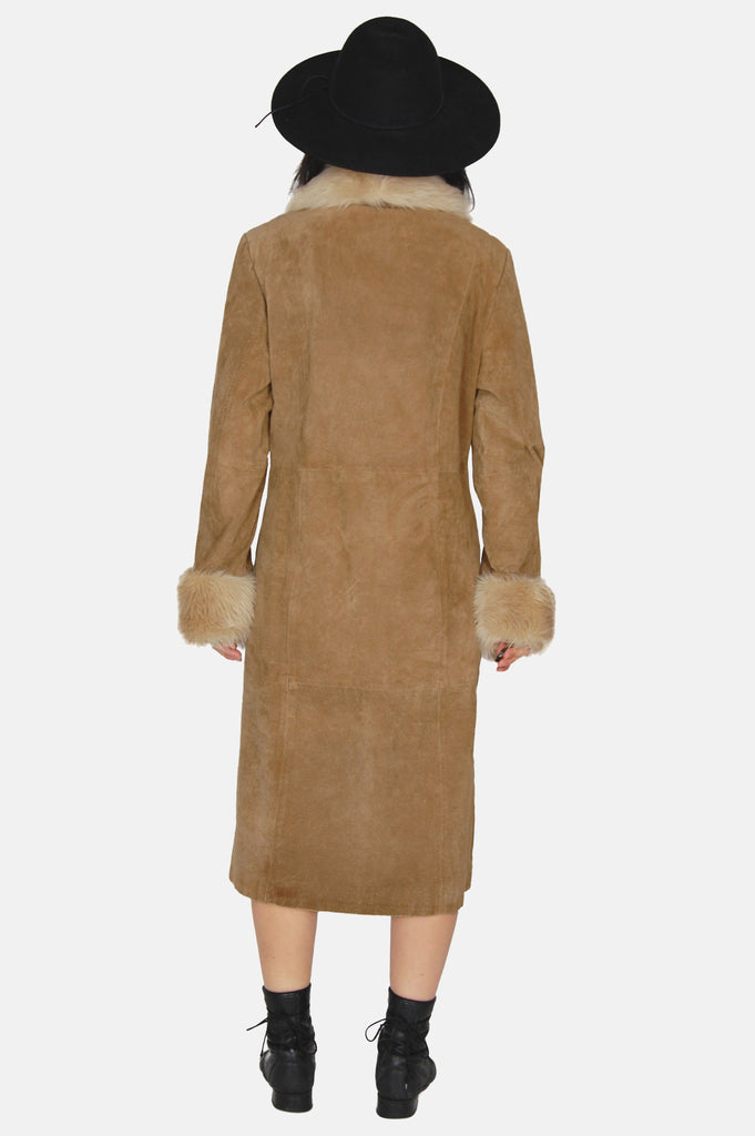 One More Chance Vintage - Vintage Wilson's Shearling Suede Leather Coat