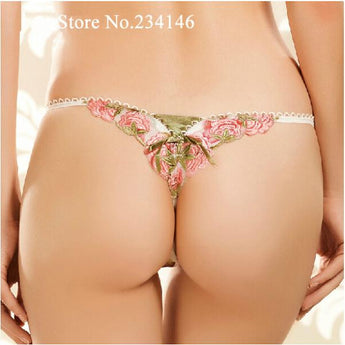 Sexy Seamless Breathable Print Panties Sexy Low Waist Briefs G String Thongs