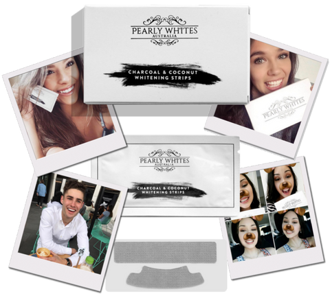 Pearly Whites Teeth Whitening Strips with Coconut & Charcoal