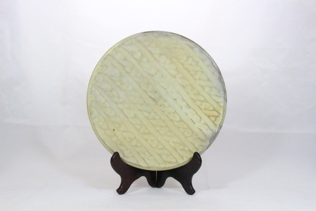 James Tingey Cable Knit Plate