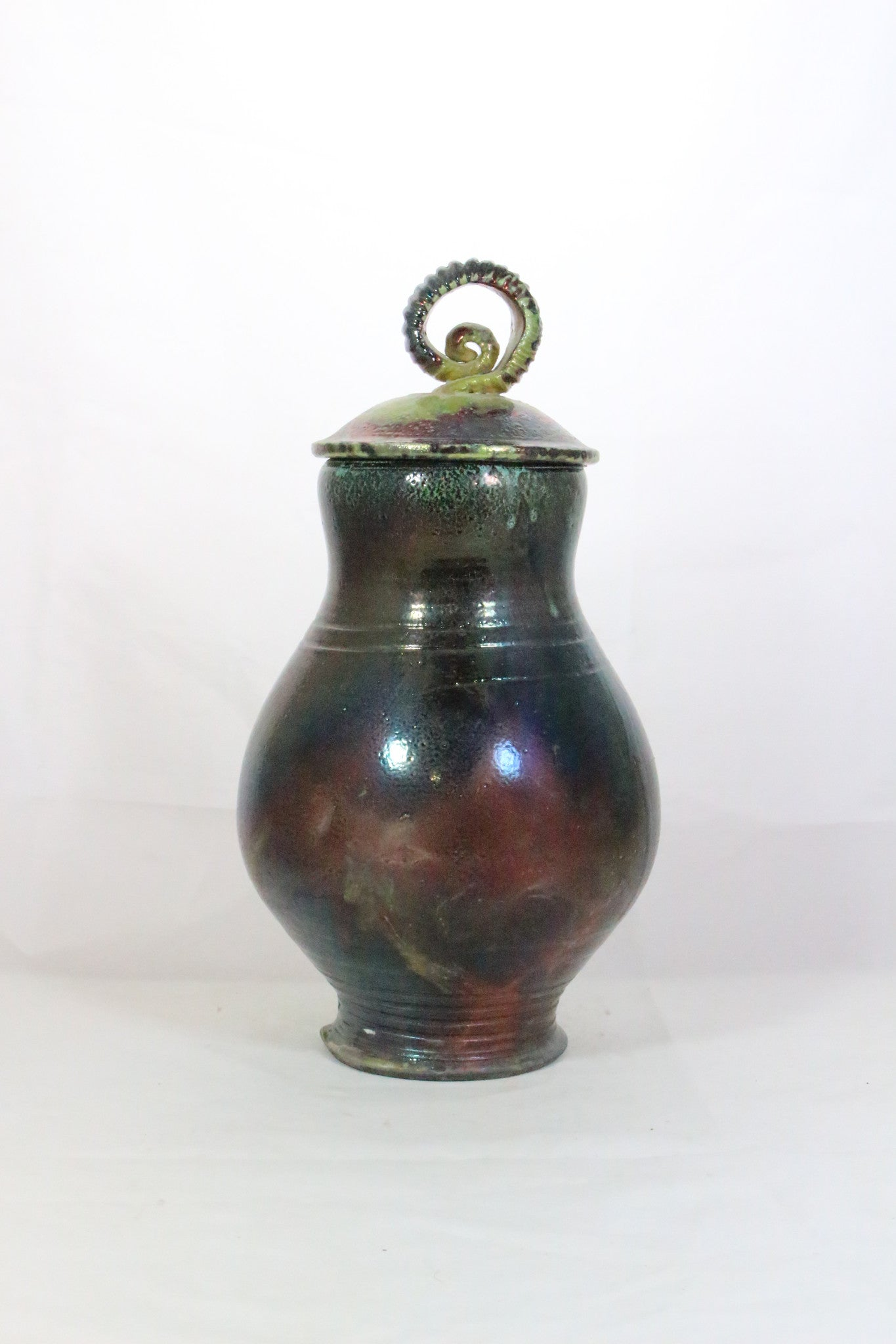 Mark Poole Lidded Raku Vase