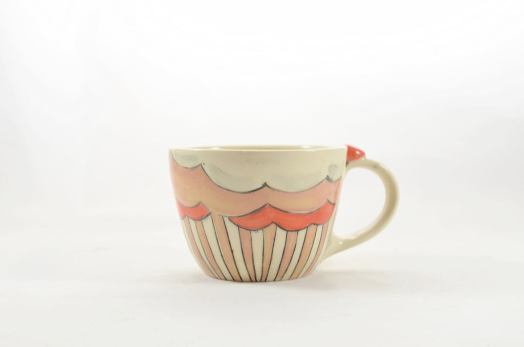 Latte Mug 3 Dripped Stripe