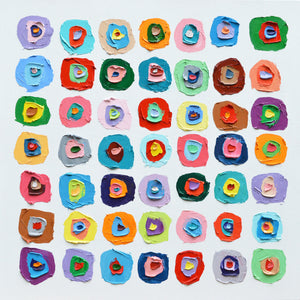 """ Concentric Polka Daubs 3 "" by Ann Marie Coolick"