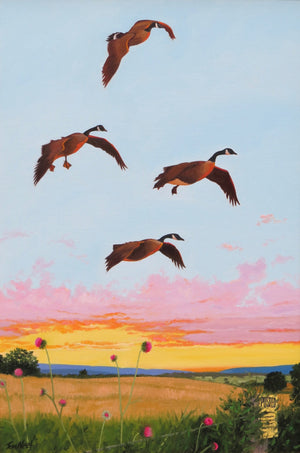 """ Evening Flight "" by Tom Neel"