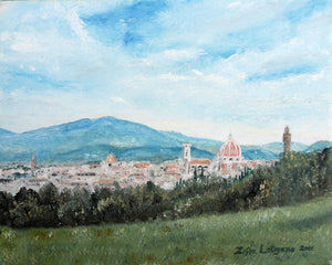 """ A Town Near Florence"" by Zofia Lategano"