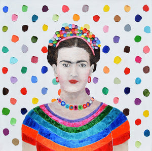 """Polka Daub Frida"" by Ann Marie Coolick"