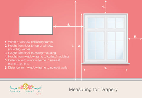 Measuring for custom drapes