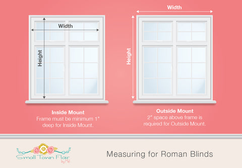 Measuring for Roman Blinds