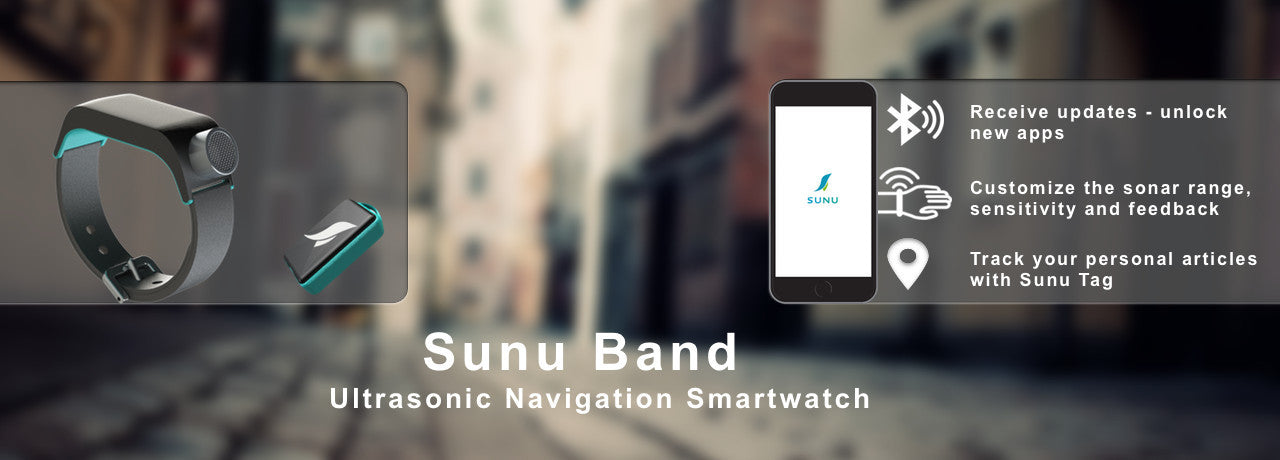 the sunu band sonar smart-watch and mobile app.