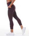 7/8 Control Ascend Tights - Sangria
