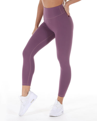 7/8 Touch Scrunch Tights - Deep Lavender