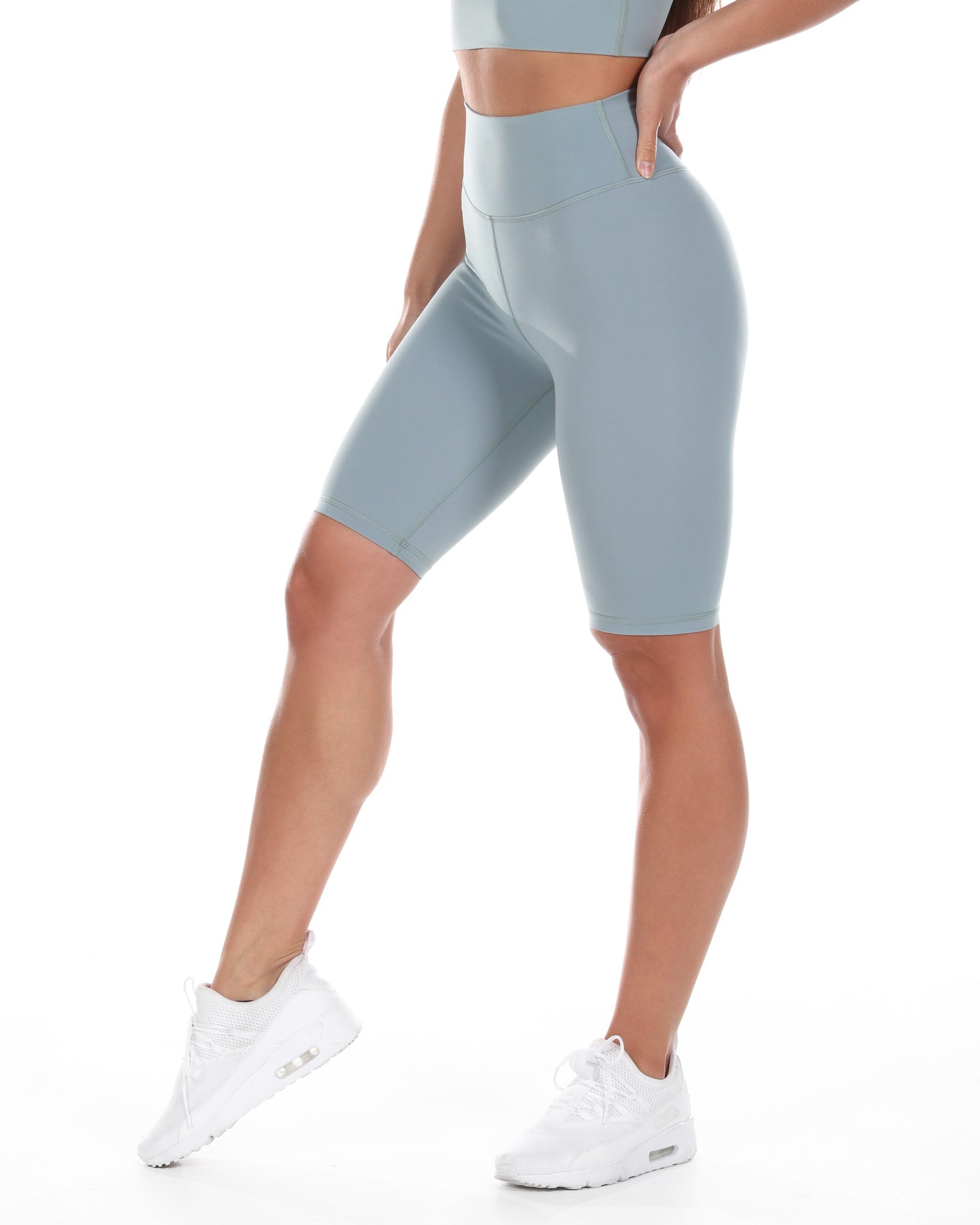 Aura Bike Shorts - Pale Sage