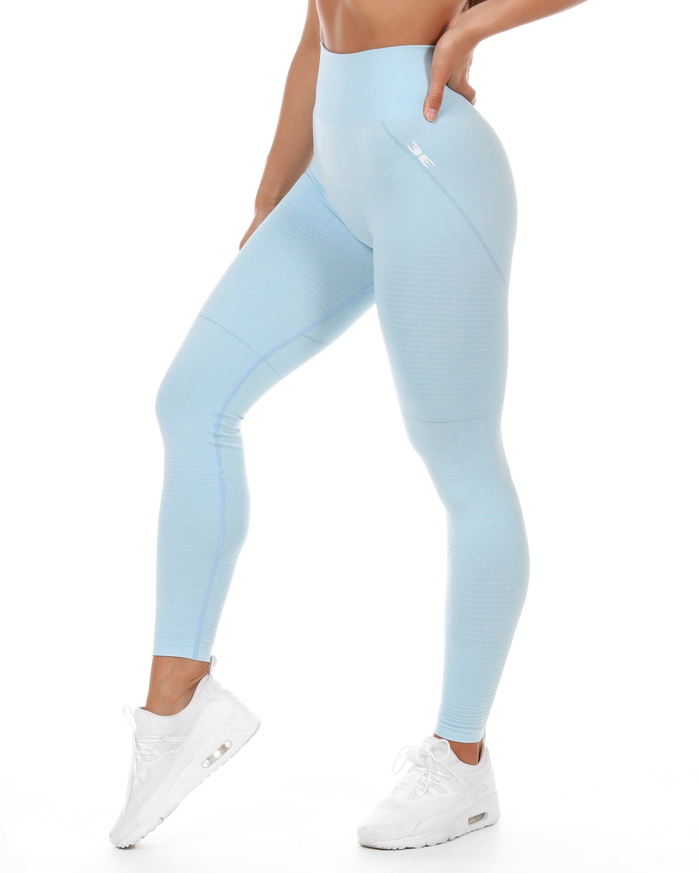 Elite Seamless Leggings - Pale Blue