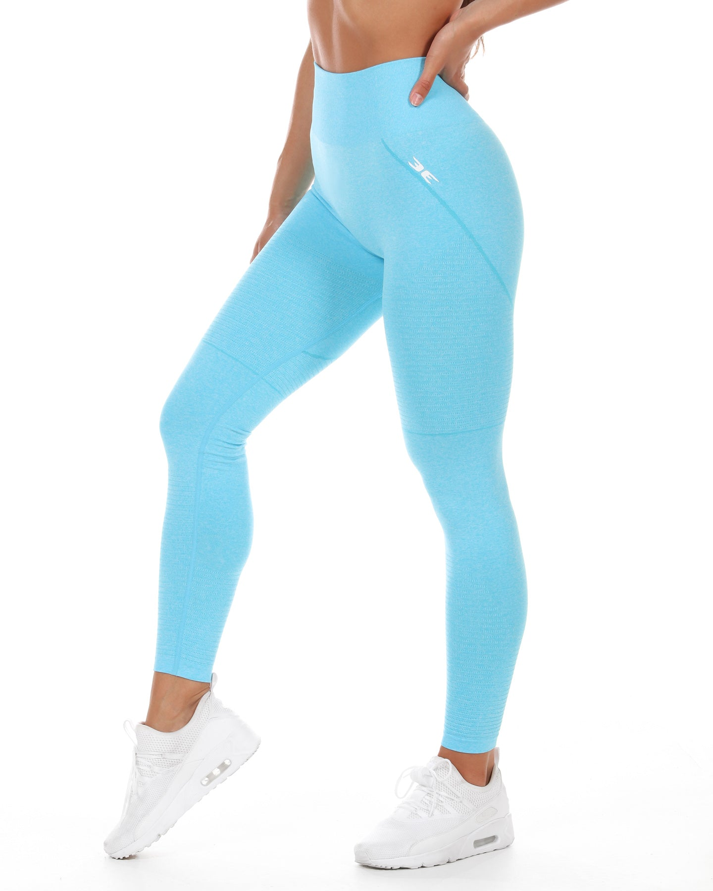 Elite Seamless Leggings - Tropical Blue