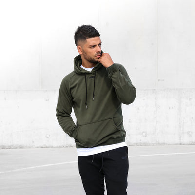 Olive Men's Aurawear hoodie by Elite Eleven Sporting - $70.99