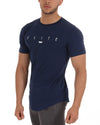 Banner Scoop Tee - Navy