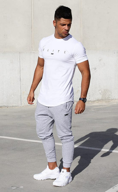 Banner Scoop Tee - White