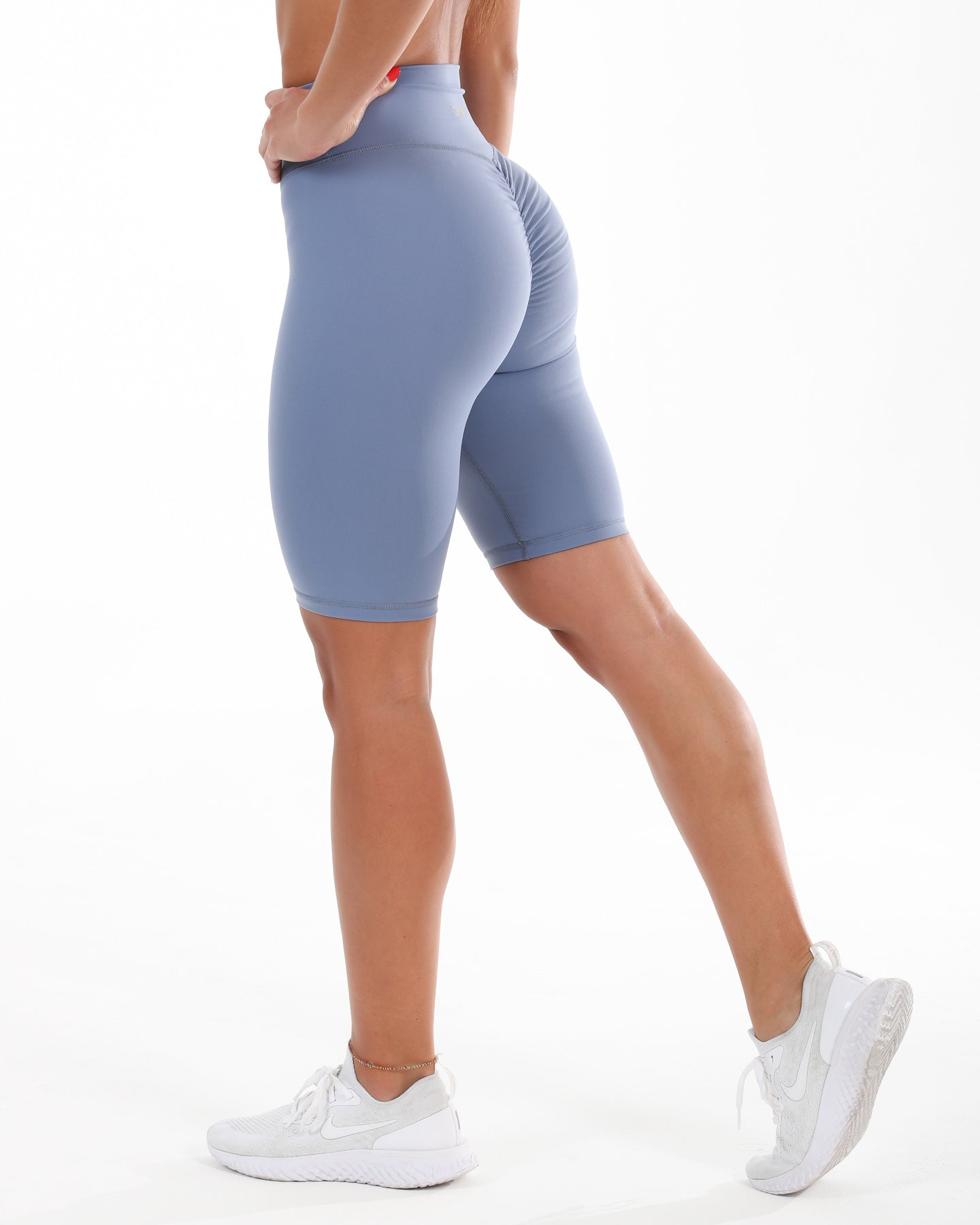 Scrunch Bike Shorts - Blue