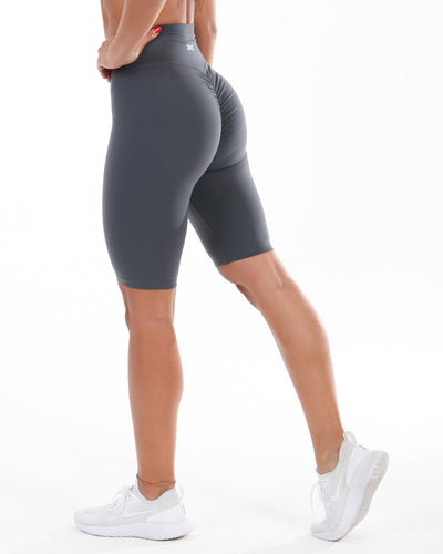Scrunch Bike Shorts - Slate Grey