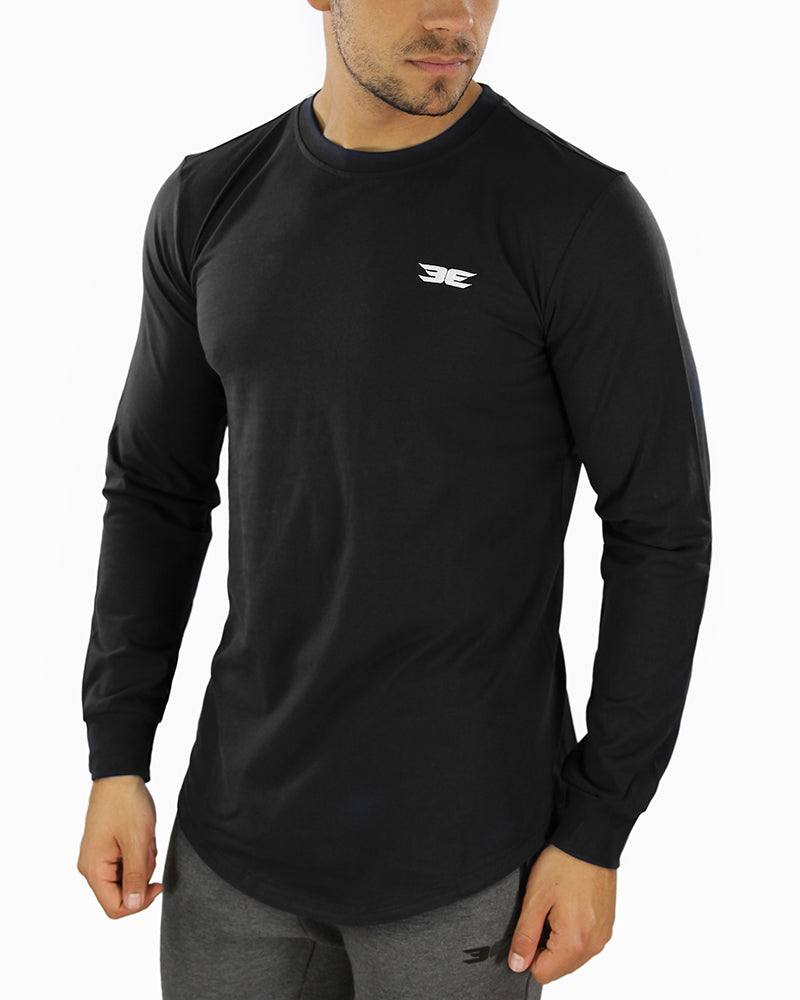 Long Sleeve Scoop - Black