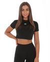 Elite Crop Tee - Black